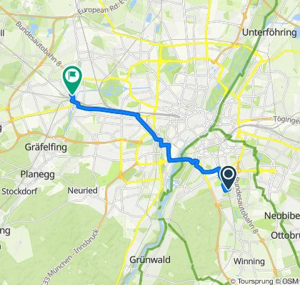 Gemütliche Route in München