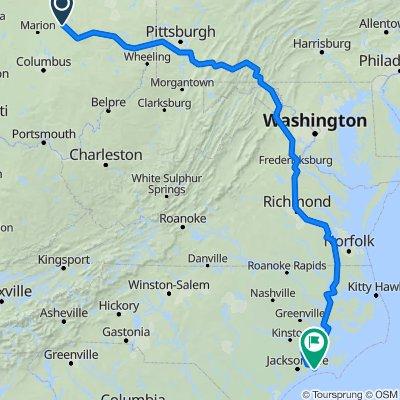 Lexington OH to Cape Carteret NC