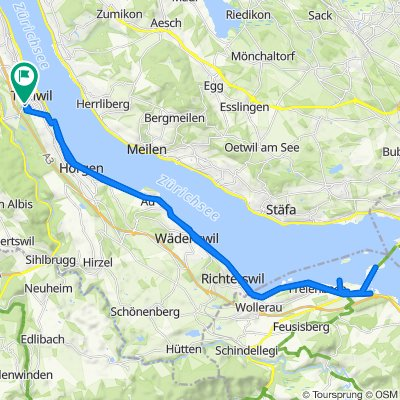 Supersonic route in Thalwil