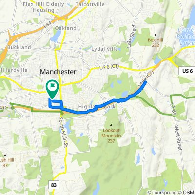 91 Elm St, Manchester to 91 Elm St, Manchester