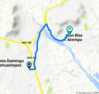 De Calle Río Atoyac 14, Tehuantepec a Callejón Miguel Hidalgo 67, Centro