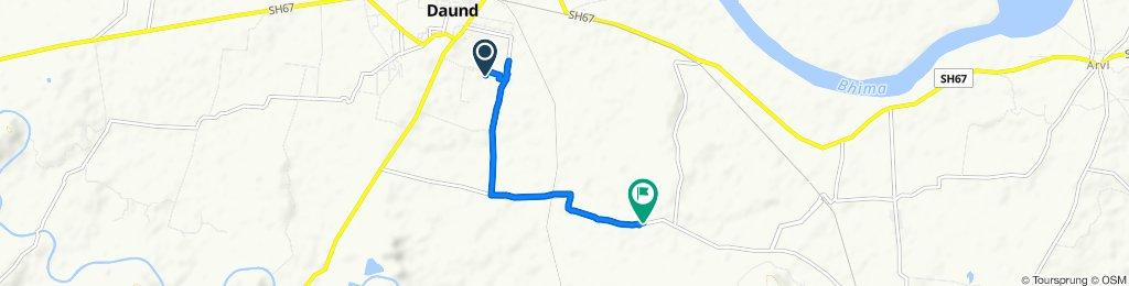 Daund to Unnamed Road, Malewadi