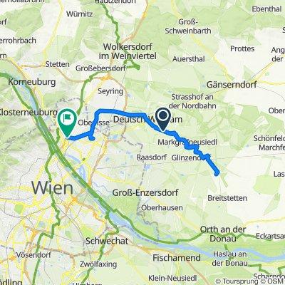 Gerade Fahrt in Gerasdorf bei Wien