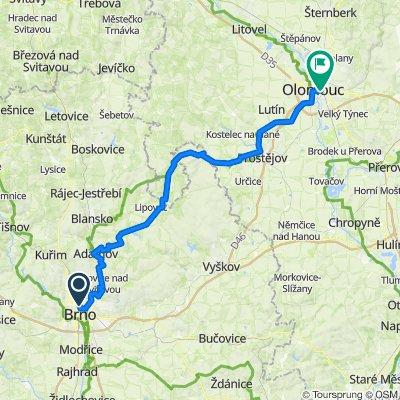 Brno - Olomouc mtb ± 100 km