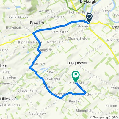 Route from A699, Melrose