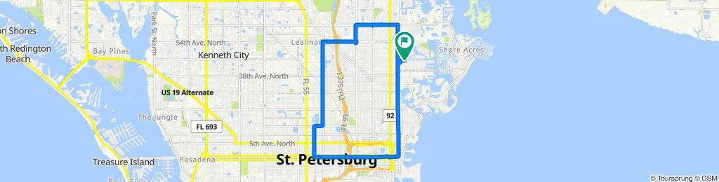 High-speed route in Saint Petersburg