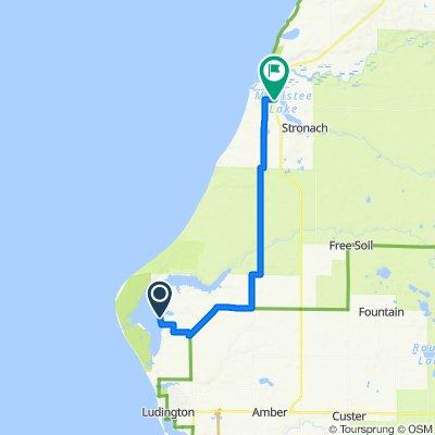 4739 N Lakeshore Dr, Ludington to 720 Kosciusko St, Manistee
