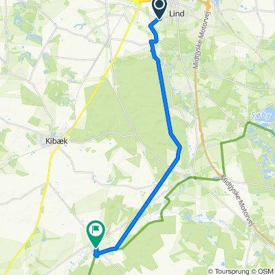 Vesterlindvej, Herning to Hovedgaden 44A, Kibæk