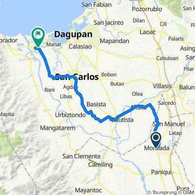 MacArthur Highway, Moncada to Quibaol - Nansangaan Road 222, Lingayen