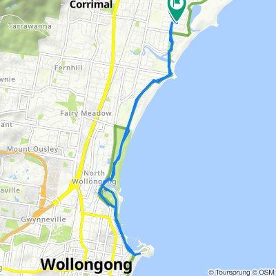 Restful route in East Corrimal