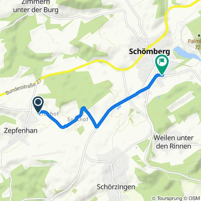 Entspannende Route in Schömberg