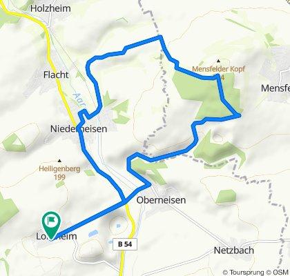 Lohrheim-Mensfelderkopf-Niederneisen-Lohrheim