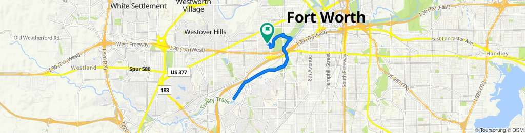 Slow ride in Fort Worth