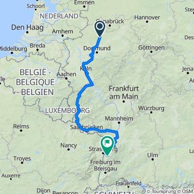 Münster - Köln - Ahrtal - Trier - Saarbrücken - Karlsruhe - Offenburg