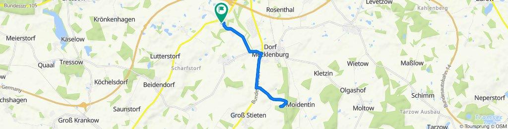 von Moidentin nach Metelsdorf