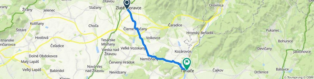 Zlaté Moravce - Čierne Kľačany - Vozokany - Nemčičany - Tlmače