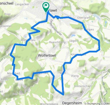 Flawil- Magdenau- Moosbad-Degersheim- Alterswil- Flawil