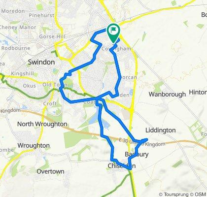 8 Linnetsdene, Swindon to 6 Linnetsdene, Swindon