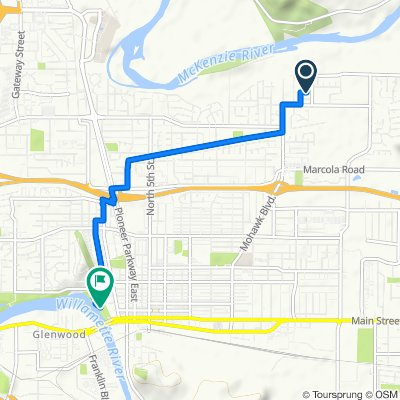 2160 Rhododendron St, Springfield to Bikepath, Springfield