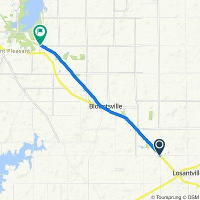 8512–8990 S County Road 1200 W, Losantville to S 534 E, Selma