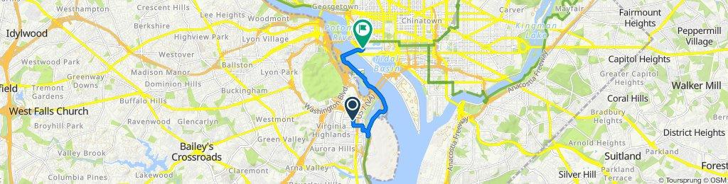 1221 S Eads St, Arlington to 2 Lincoln Memorial Cir NW, Washington