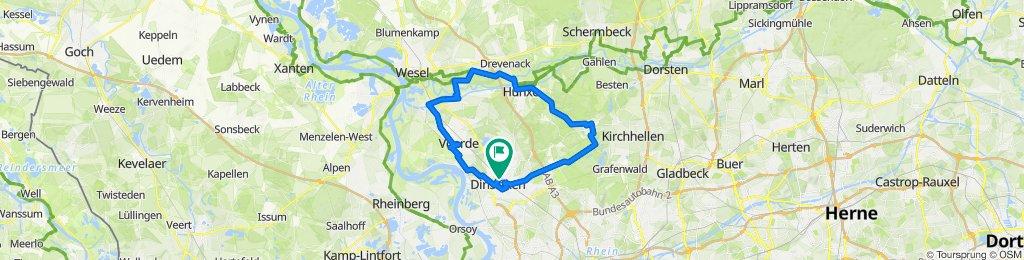 Dinslaken-Rotbach-Hünxe-Wesel-Dinslaken 2018-08-25 09:55