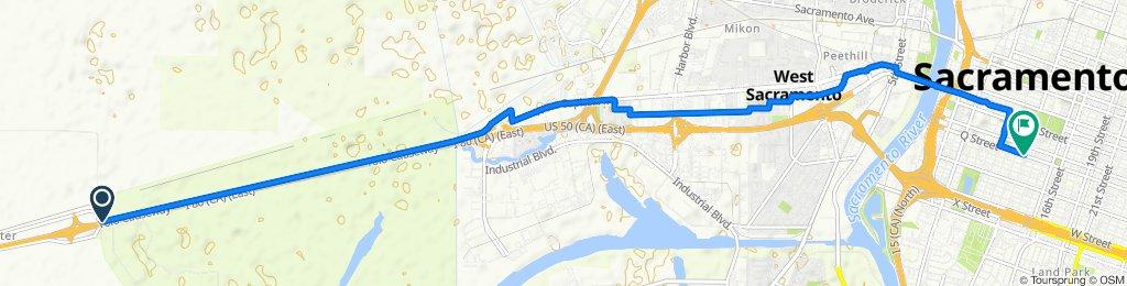 Restful route in Sacramento