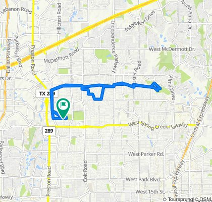 Sporty route in Plano