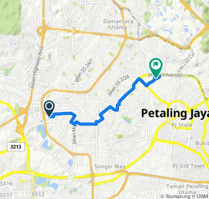 High-speed route in Petaling Jaya