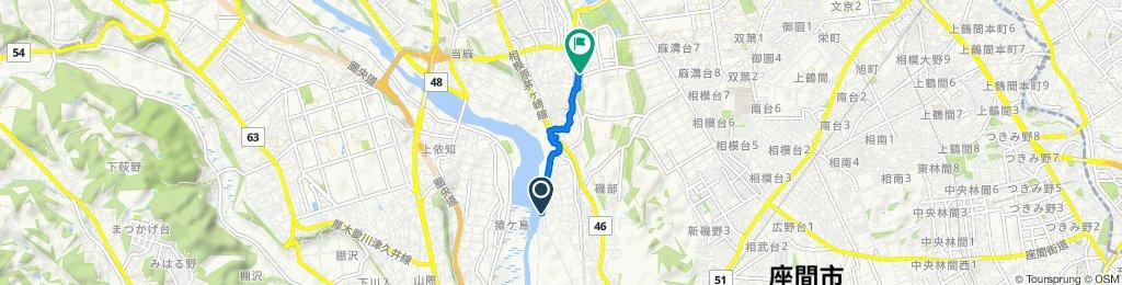 Relaxed route in Minami-Ku, Sagamihara-Shi
