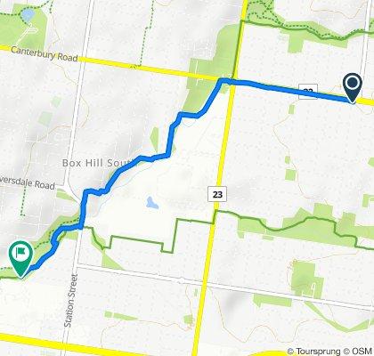 130 Canterbury Road, Blackburn South to 62 Glengarry Avenue, Burwood