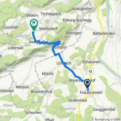 Langsame Fahrt in Buchegg