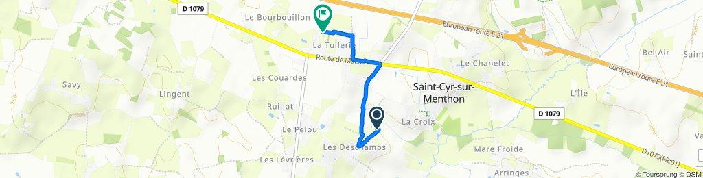 Itinéraire facile en Saint-Cyr-sur-Menthon