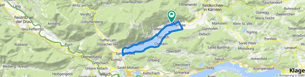 Gemütliche Route in Steindorf am Ossiacher See