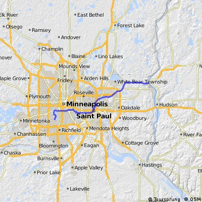 Minneapolis to Stillwater CLONED FROM ROUTE 65593
