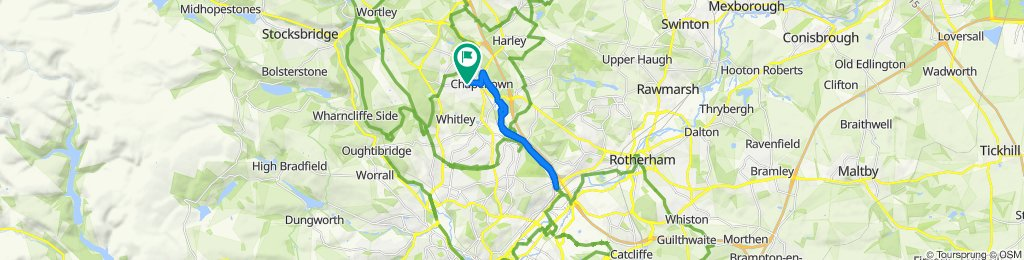 route 67 Burncross to Meadowhall