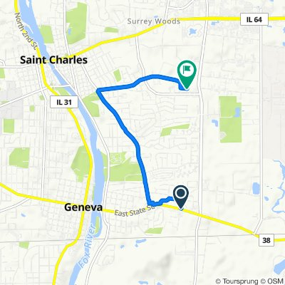 Moderate route in St. Charles
