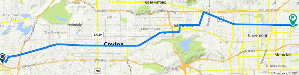 Sporty route in Upland