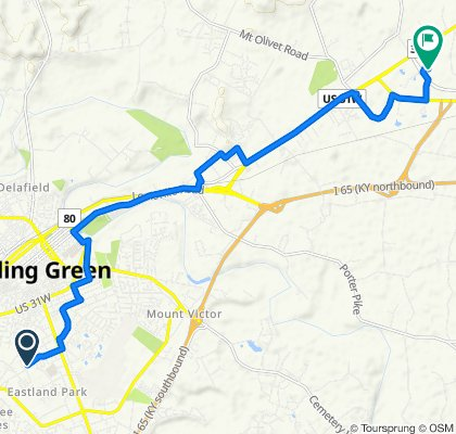 Restful route in Bowling Green