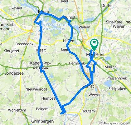 Gematigde route in Mechelen