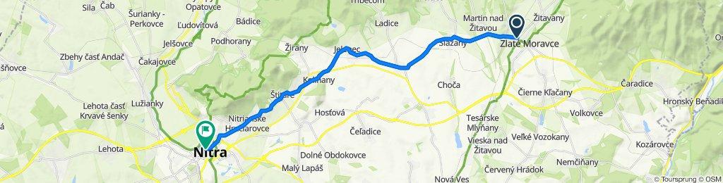 Zlaté Moravce - Sľažany - Neverice - Jelenec - Nitra