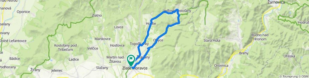 Zlaté Moravce - Topoľčianky - Hostie - Jedľové Kostoľany - Machulince