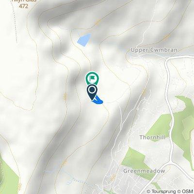 Belle Vue Lane, Cwmbran to Gelli-gravog Farm, Belle Vue Lane, Cwmbran