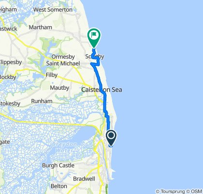 Great Yarmouth to Scratby