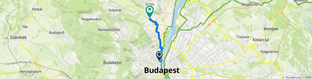 Tölgyfa utca 1-3, Budapest to Tarhos utca 64, Budapest