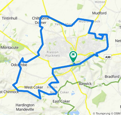 Yeovil on and off road loop - ebike