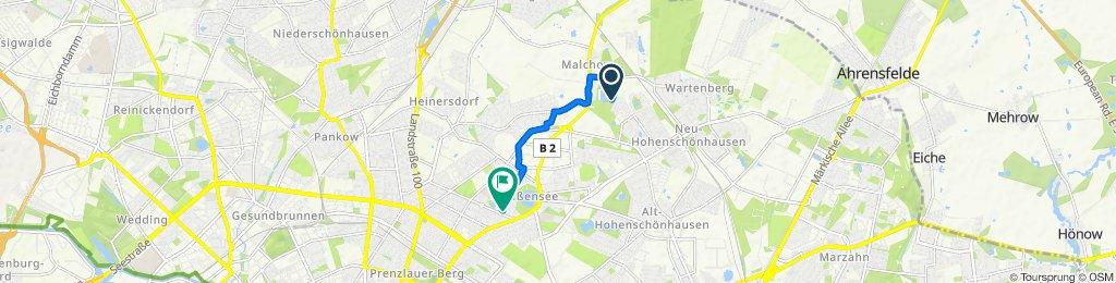 Gemütliche Route in Berlin