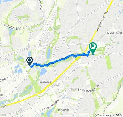 Einfache Fahrt in Hamburg