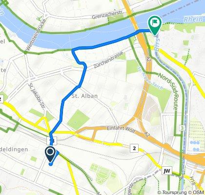 Restful route in Basel