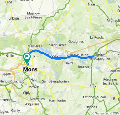 Supersonic route in Mons